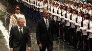 Barack Obama ja Raul Castro.