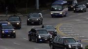 Yhdysvaltain presidentin Barack Obaman autosaattue Havannassa.