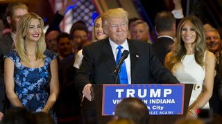 Donald Trump puhui Indianassa 3. toukokuuta.