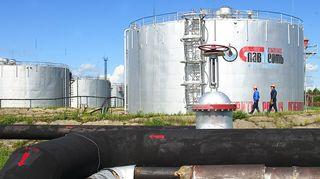 Slavneftin öljyjalostamo Megionissa, Venäjällä.