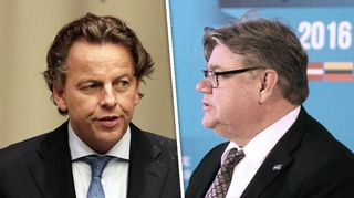 Hollannin ulkoministeri Bert Koenders ja Suomen ulkoministeri Timo Soini.