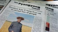 Pjongjang Times -lehden etusivu.