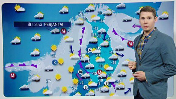 Video: perjantain sääkartta