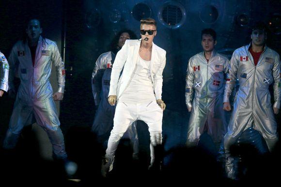 Justin Bieber Oslossa 16. huhtikuuta.