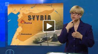 Video: Kuvakaappaus viittomakielisestä uutislähetyksestä Yle Areenassa