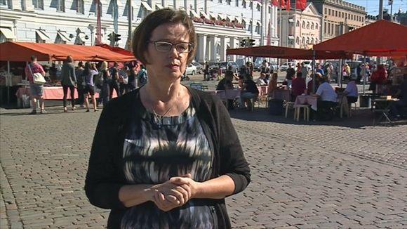 Anja Malm Helsingin Kauppatorilla