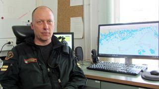 Vartioupseeri Elmeri Rytkösen työpaikka on Haapasaaren merivartioasema