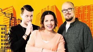 Kuvassa Jere Pehkonen, Miia Krause ja Matti Ylönen.