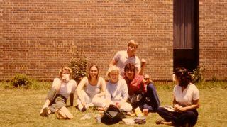 Kristiina Kouros vaihto-oppilaana Alabamassa vuonna 1983.