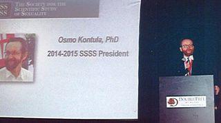 Society for the Scientific Study of Sexuality-järjestön puheenjohtaja Osmo Kontula