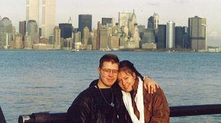 Kirsti Kuronen ja puolisonsa Jyrki nuorina rakastavaisina New Yorkissa vuonna 1988.