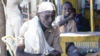 Tuntematon mies Somaliassa syksyllä 1983.