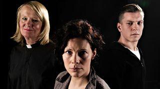 Radioteatteri esittää: Kristuksen morsian (2011) Kuvassa Henriikka (Miitta Sorvali),Marion (Outi Condit) ja Matti (Antti Holma).