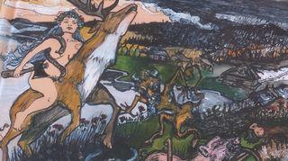 Kantasuomen balttilaislainoja kuvina. Taiteilija Rigina Ajanki.