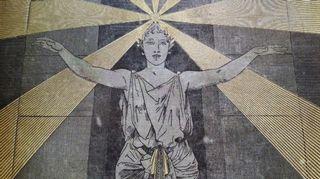 Auguste Souze: kansikuva teokseen Les Mystères de la Science (1880)