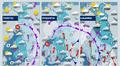 Sääkuva: Useita sadealueita liikkuu Suomen yli loppuviikon aikana. Viikonloppuna sää lauhtuu.