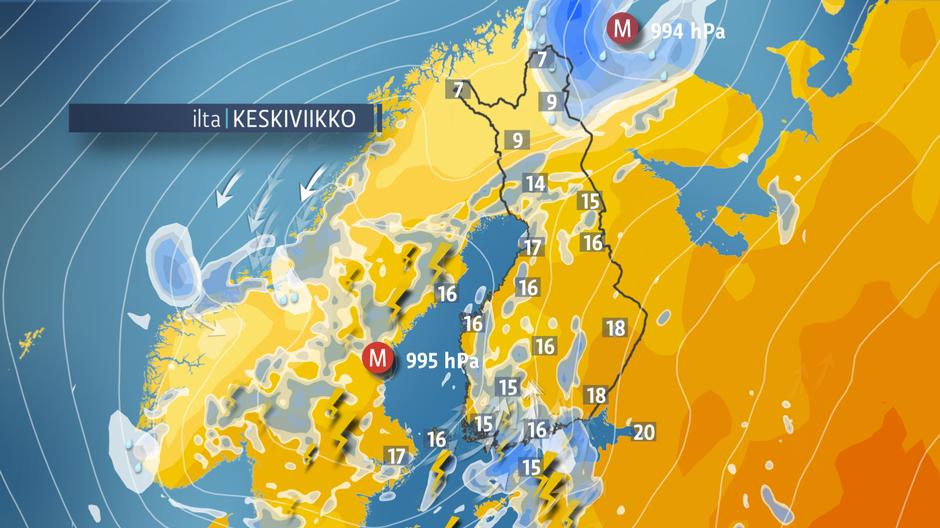 Epävakainen sää toi runsaita sateita | Sää | yle.fi