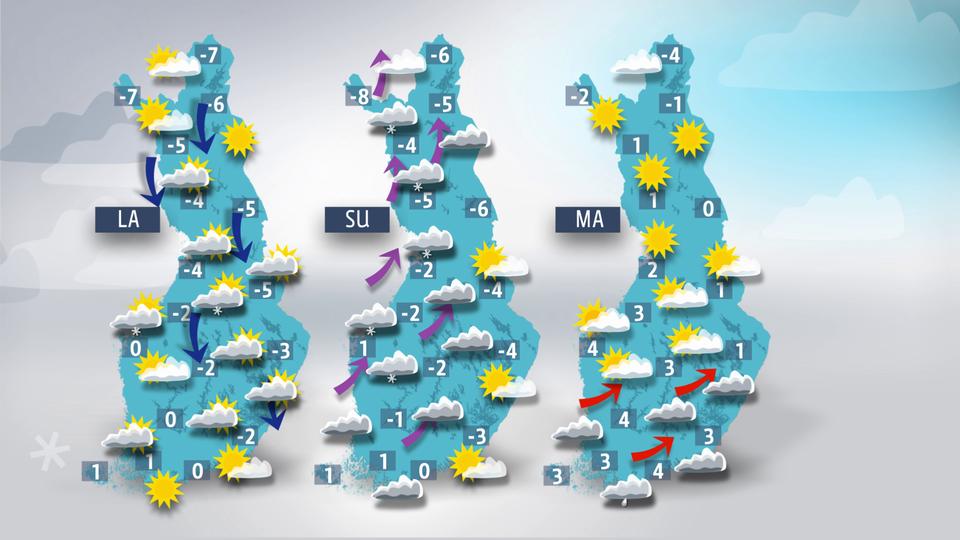 Sää kylmenee koko maassa – viikonvaihteessa eteläänkin lunta | Sää | yle.fi