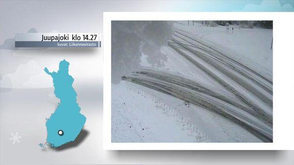 Miltä lumitilanne näyttää tällä hetkellä? | Sää | yle.fi