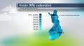 Sääkuva: Kesän 2016 sademäärät