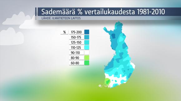 Kesä oli paikoin ennätyksellisen sateinen | Sää | yle.fi