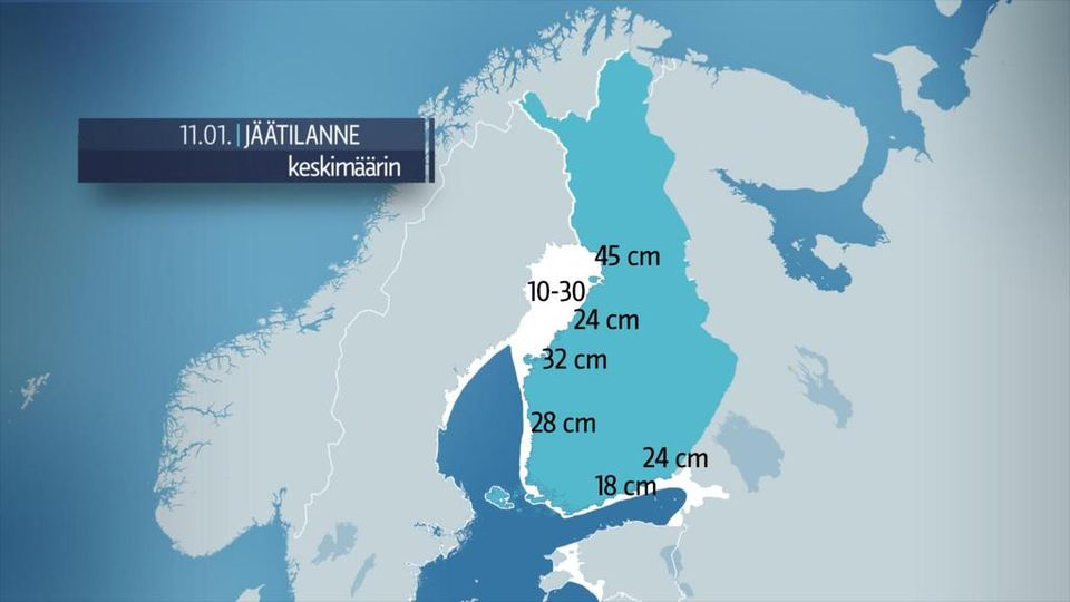 Itämerellä vähän jäätä myös tänä talvena | Sää | yle.fi