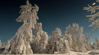 Sääkuva: Luminen maisema Peräposiolla
