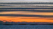 sääkuva: Auringonlasku merellä