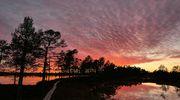 Sääkuva: Auringonlasku Kauhalammilla