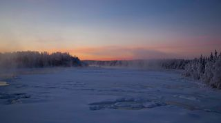 Sääkuva: Muonionjoki jäätyy