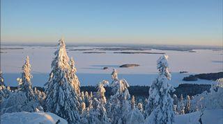 Sääkuva: Kansallismaisema talvipuvussa