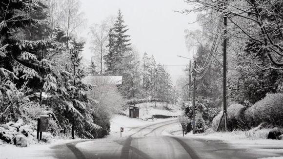 Sääkuva: Lunta ja räntää Tuusulassa