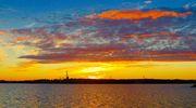 Sääkuva: Auringonlasku Vaasassa