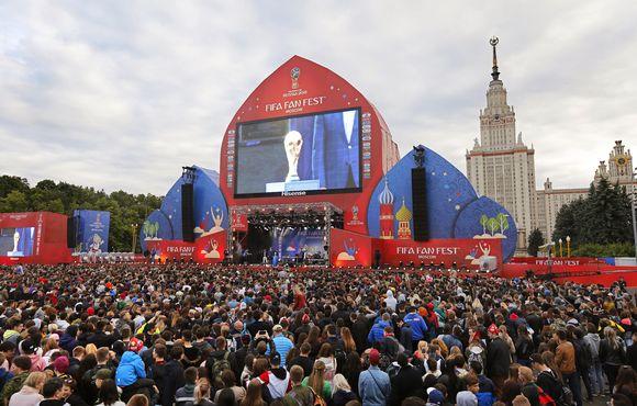 Jalkapallon MM 2018 fanialueen avajaiset Moskova