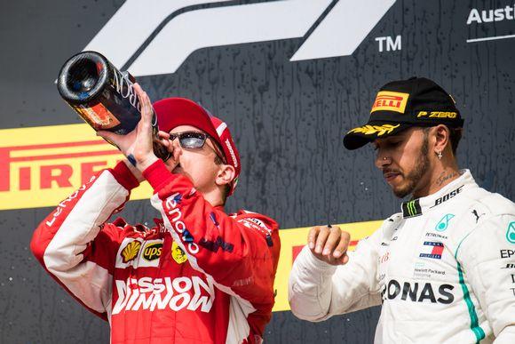 Kimi Räikkönen ja Lewis Hamilton