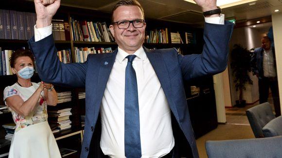 Petteri Orpo iloitsi kokoomuksen menestyksestä kuntavaaleissa 13. kesäkuuta.