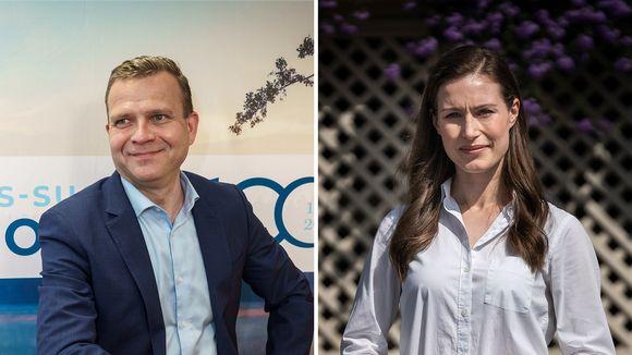 Petteri Orpo ja Sanna Marin.