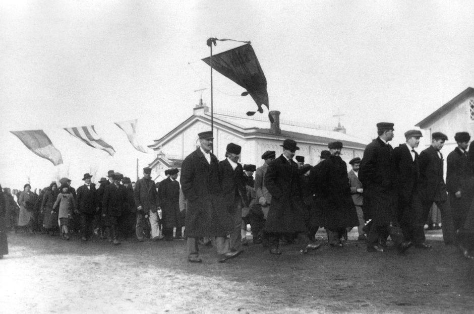 Venäjän maaliskuun vallankumouksessa surmansa saaneiden muistojuhla Raumalla.