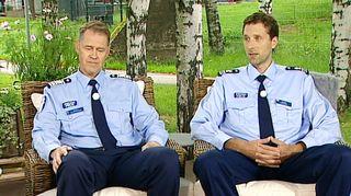 Poliisijohtaja Seppo Kolehmainen ja komisario Jarmo Heinonen Helsingin poliisilaitokselta.
