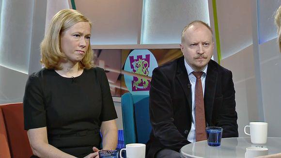 Riikka Venäläinen ja Arno Ahosniemi.