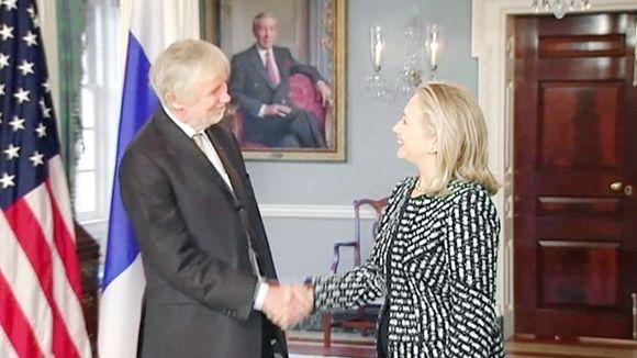 Erkki Tuomioja & Hillary Clinton