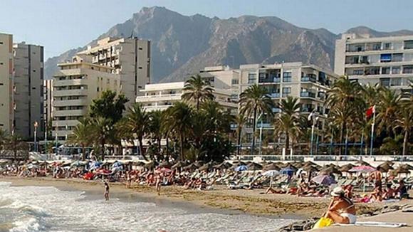 Marbellan turistirantaa.