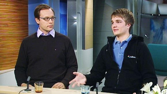Timo Ahopelto (vas.) ja Miki Kuusi