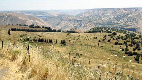 Israelin ja Syyrian välinen raja.