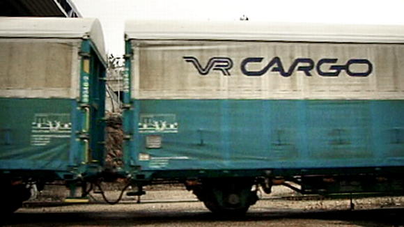 VR:n tavaraliikenteen vaunu.