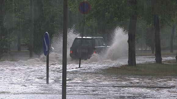 Hämeenlinnassa tulvi elokuun alussa