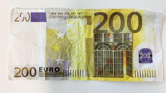 200 euron setelin jäljennös.