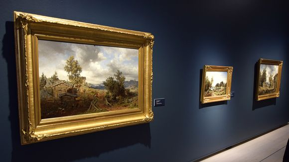 Werner Holmbergin maalauksia Hämeenlinnan Taidemuseossa