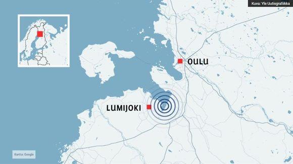 Grafiikkakuva Oulun ja Lumijoen alueelta