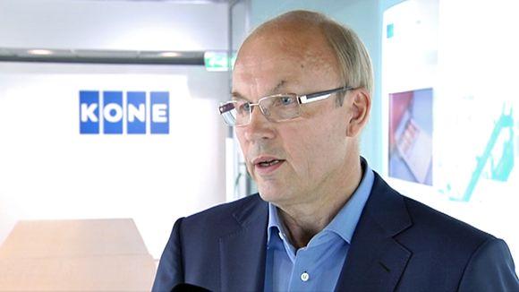 Koneen toimitusjohtaja Matti Alahuhta.